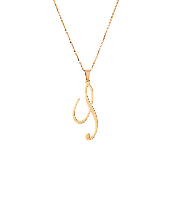 buy designer mens pendants stylish gold toned s shape alphabet