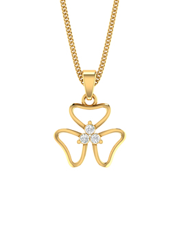 Buy yellow white rose traditional gold pendants with chain for floral 14k gold pendant adorned with real diamonds aloadofball Choice Image