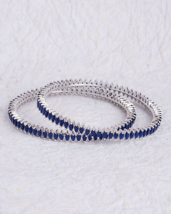 details of sapphire bangles gold two stone precious set
