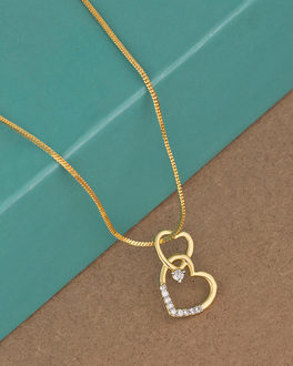 Buy cz pendants silver gold plated pearl solitaire pendant for double heart motif pendant aloadofball Gallery
