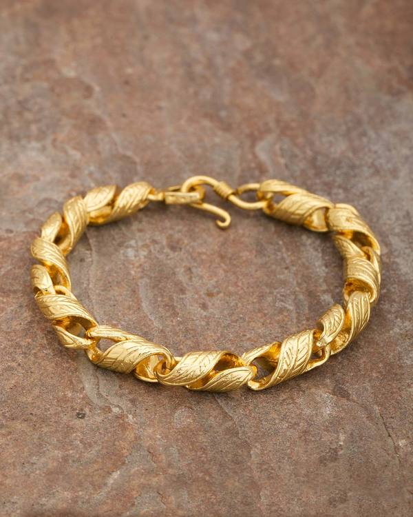 bangles gold company link karat products yellow mixed bangle jones bracelet mrs twisted