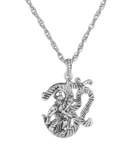 Buy designer mens pendants panchmukhi hanuman religious silver toned product image aloadofball Choice Image